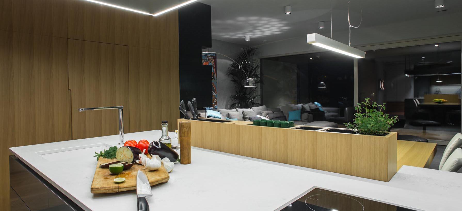 Delovna površina v kuhinji